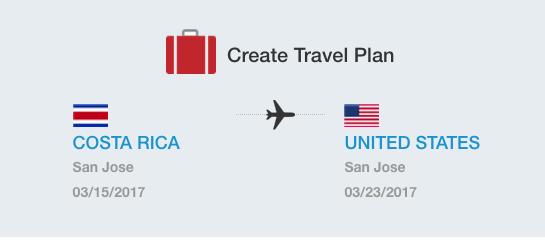create a travel plan