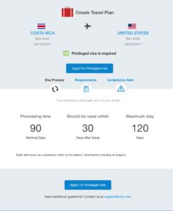 result - applied for priviledged visa