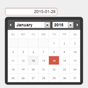 Calendar for moment.js