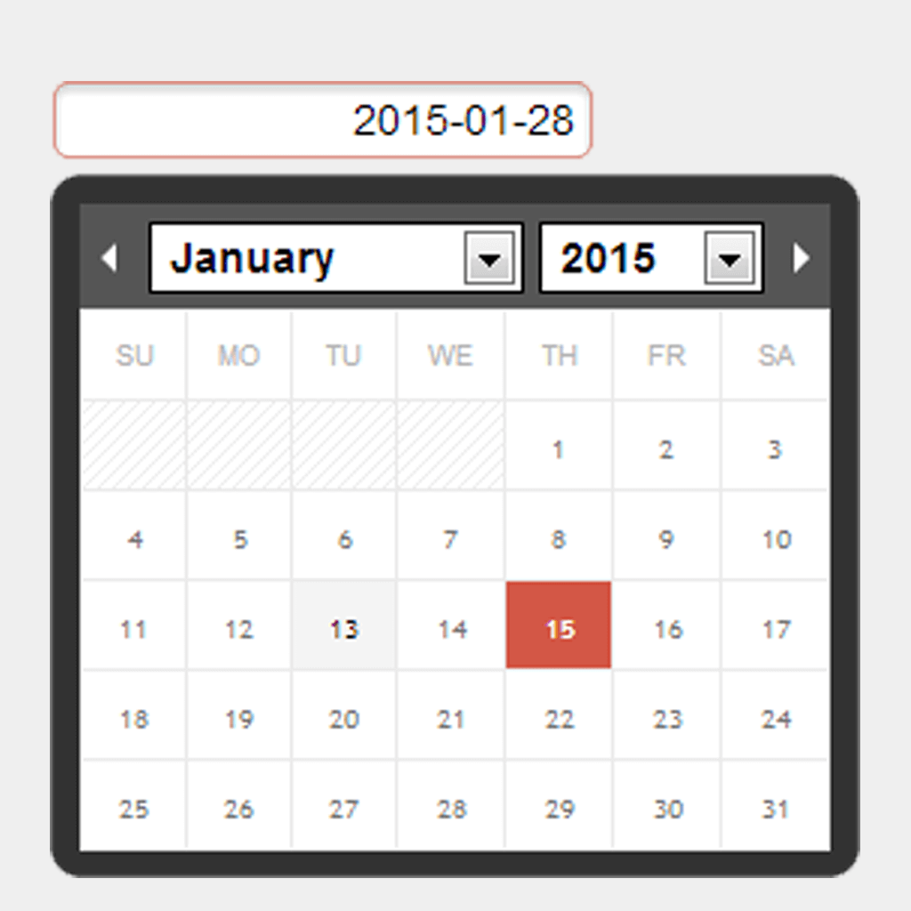 Calendar for moment.js